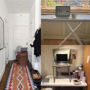 A precarious work-from-home setup