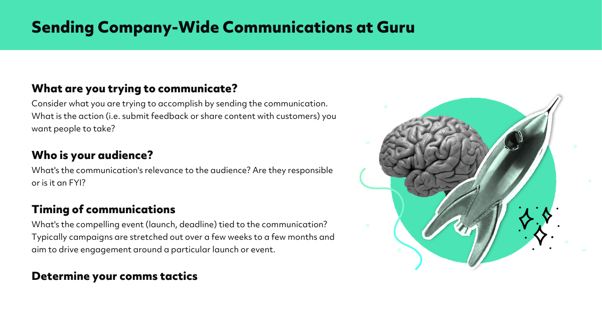 Sending Company Wide Communications at Guru