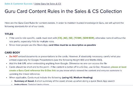 Slack content rules