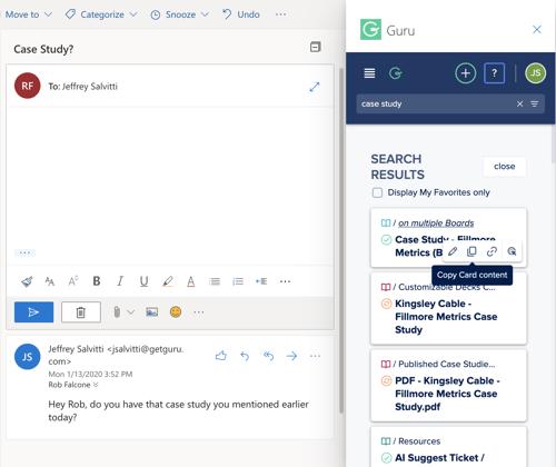 Guru's Microsoft Outlook Add-On
