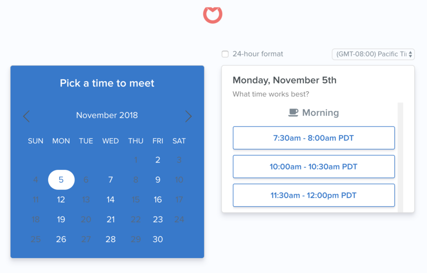 Sales Knowledge Playbook: Scheduling a meeting in Front