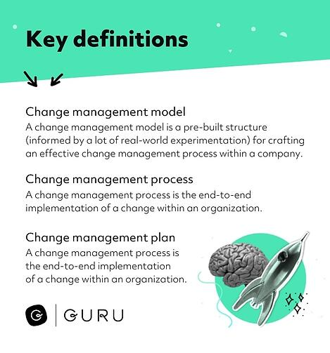 Change management definitions and terminology