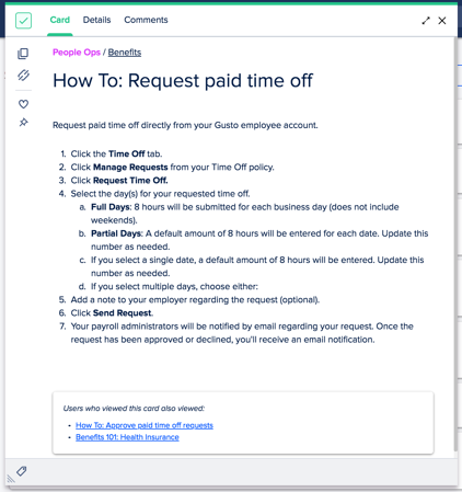 How to request paid time off