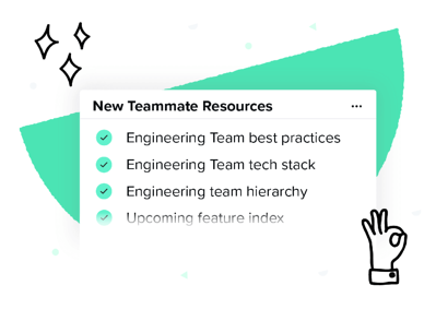 New teammate resources