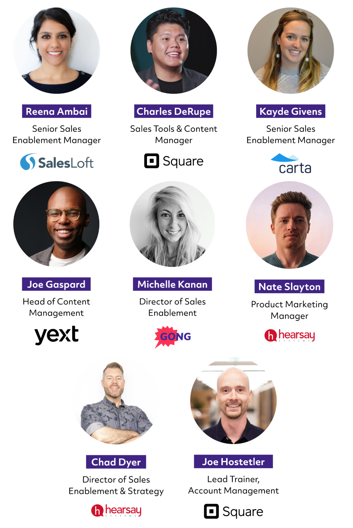 Sales speakers at Empower 2020